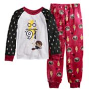 "Girls 6-12 Harry Potter ""Platform 9 3/4"" Top & Plush Bottoms Pajama Set"