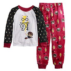 Girls 6-12 Harry Potter 'Platform 9 3/4' Top & Plush Bottoms Pajama Set