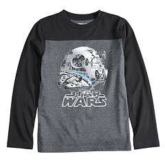 Boys 8-20 Star Wars Death Star Tee
