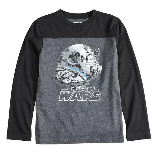 Boys 8-20 Star Wars Death Star Tee