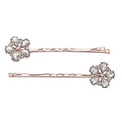 LC Lauren Conrad Simulated Flower Bobby Pin Set