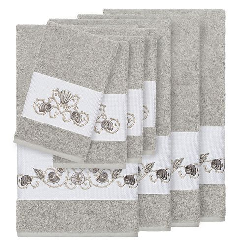 Linum Home Textiles Bella 8-piece Embellished Bath Towel Set