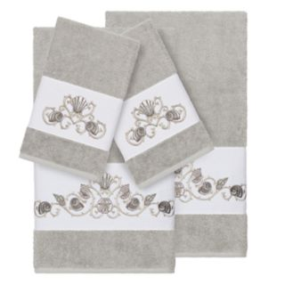 Linum Home Textiles Bella 4-piece Embellished Bath Towel Set
