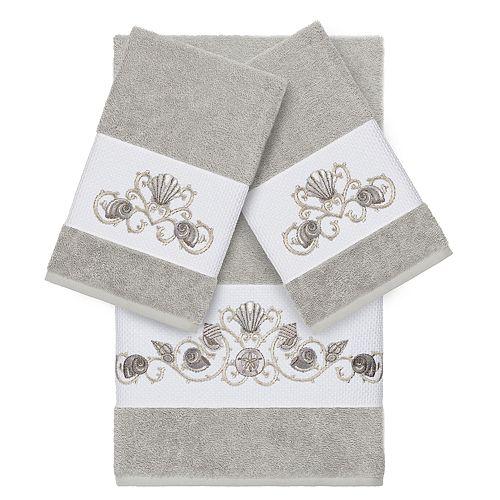 Linum Home Textiles Bella 3-piece Embellished Bath Towel Set