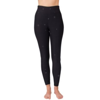Women's Spalding Glossy Star Print High-Waisted Leggings