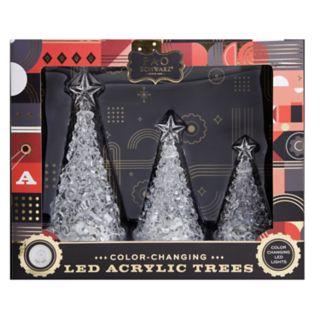 FAO Schwarz Light-Up Tree Christmas Table Decor 3-piece Set