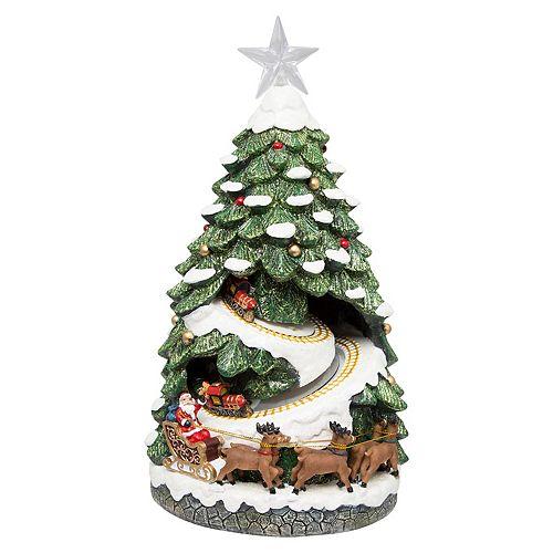 FAO Schwarz Light-Up Musical Tree Village Christmas Decor
