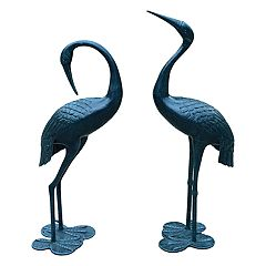 Outdoor Crane Garden Decor 2-piece Set