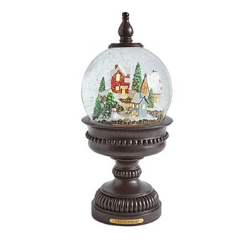 fao schwarz light up snowman christmas snow globe