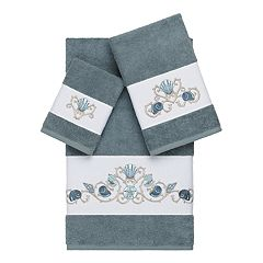 Linum Home Textiles Bella 3-piece Embellished Bath Towel Set