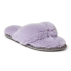 Women's Dearfoams Faux Fur Thong Slippers