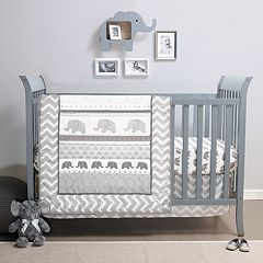 Belle Elephant Walk 4-pc. Crib Bedding Set