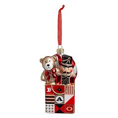 FAO Schwarz Nutcracker & Bear Christmas Ornament