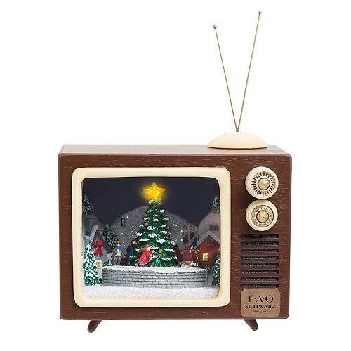 fao schwarz animated musical tv christmas table decor - Musical Animated Christmas Decorations