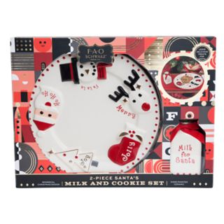 "FAO Schwarz ""Milk For Santa"" Christmas Plate & Milk Jug 2-piece Set"