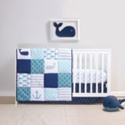 Belle Nautical Patchwork 4-pc. Crib Bedding Set