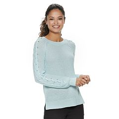 Juniors' SO® Lace-Up Sleeve Sweater