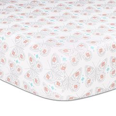The Peanut Shell Safari Love Fitted Crib Sheet
