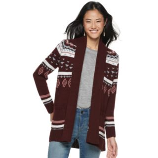 Juniors' Pink Republic Printed Cardigan