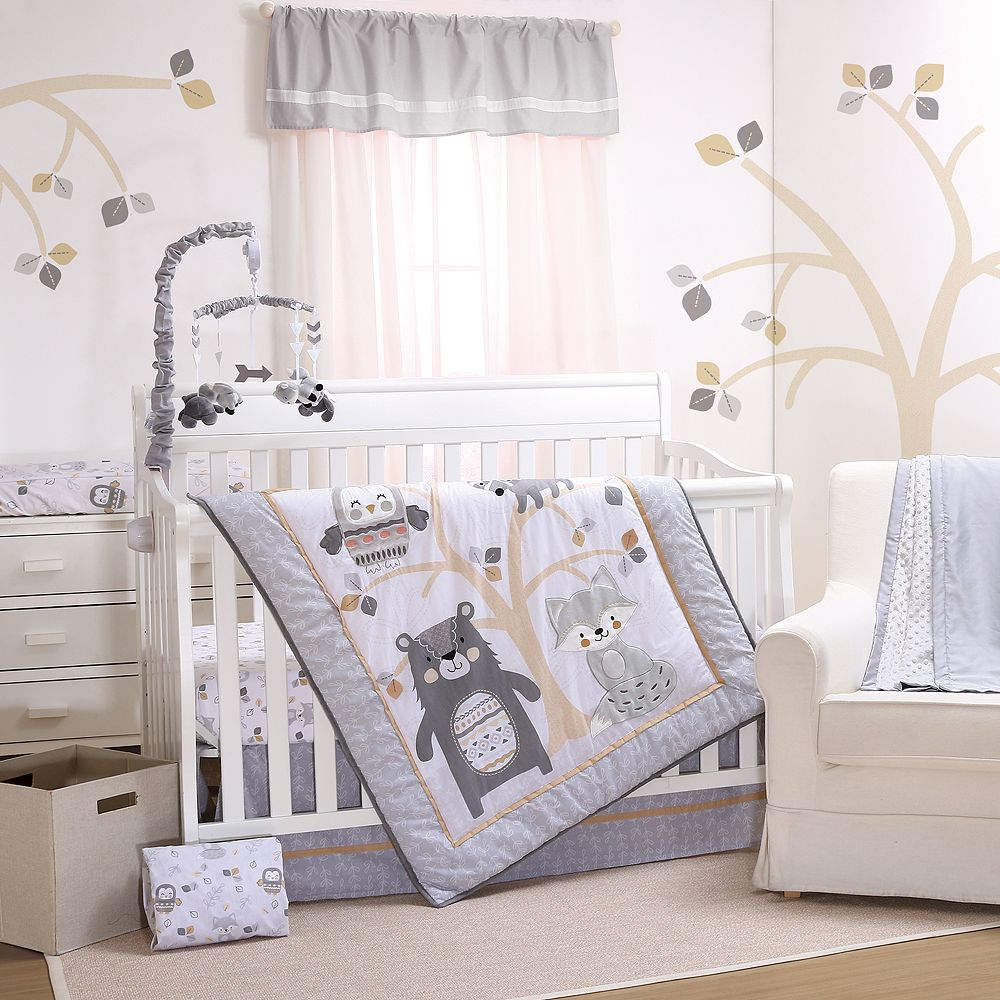 Little Haven Woodland Friends 3-pc. Crib Bedding Set