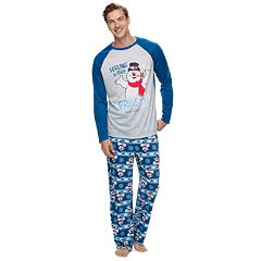 Men's Jammies For Your Families Frosty the Snowman 'Feeling a Little Frosty' Top & Microfleece Bottoms Pajama Set