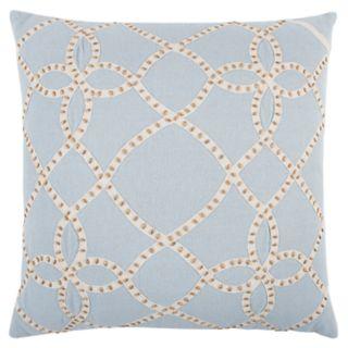 Rizzy Home Blue Trellis Transitional Throw Pillow