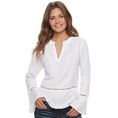 Juniors' Love, Fire Bell Sleeve Top