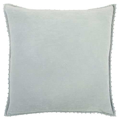 Rizzy Home Silver Velvet Solid Transitional Throw Pillow
