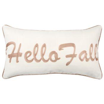 "Rizzy Home Brown ""Hello Fall"" Contemporary Oblong Throw Pillow"