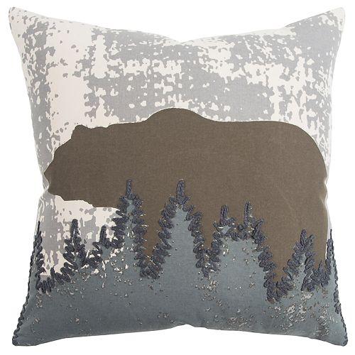 Rizzy Home Brown Animal Contemporary Throw Pillow