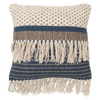 Rizzy Home Blue Stripe Transitional Throw Pillow