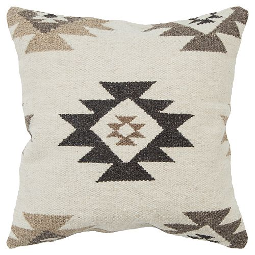 Rizzy Home Beige Southwest Transitional Throw Pillow