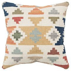 Rizzy Home Yellow Geometric Transitional Throw Pillow