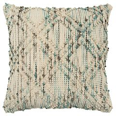 Rizzy Home Teal Geometric Transitional Throw Pillow