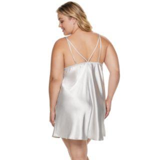 Plus Size Apt. 9® Satin Lace Chemise