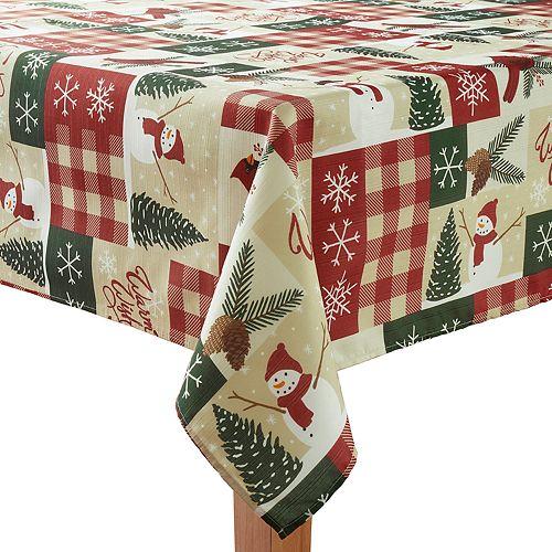St. Nicholas Square® Snowman Patchwork Tablecloth