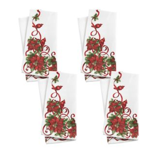 St. Nicholas Square® Poinsettia Border Napkin 4-pack