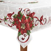 St. Nicholas Square® Poinsettia Border Tablecloth
