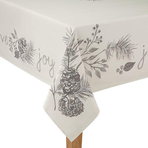 St. Nicholas Square® Gray & Ivory Pine Tablecloth