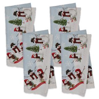 St. Nicholas Square® Snowman Border Napkin 4-pack
