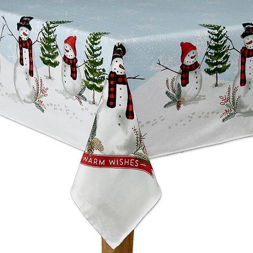 St. Nicholas Square® Snowman Border Tablecloth