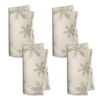 St. Nicholas Square® Metallic Snowflake Napkin 4-pack
