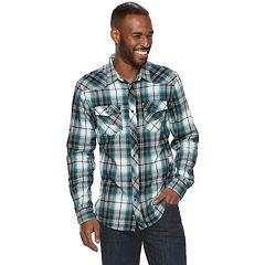 Men's Rock & Republic Plaid Button-Down Flannel Shirt