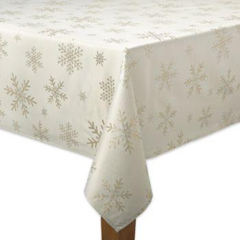 St. Nicholas Square® Metallic Snowflake Tablecloth