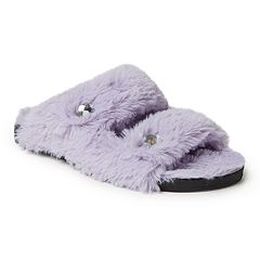 Women's Dearfoams Double Strap Slide Slippers