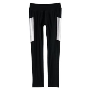 Girls 7-16 SO® Metallic Colorblock Full Length Leggings
