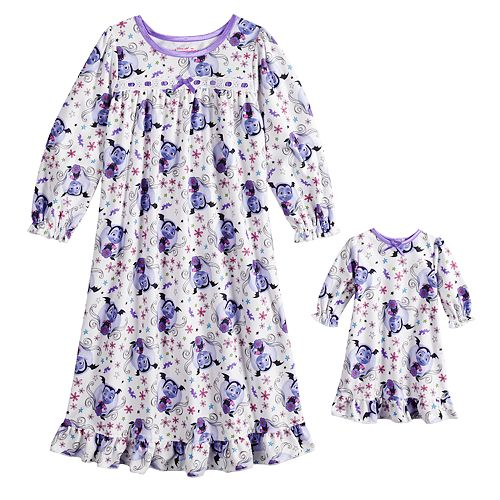 Disney's Vampirina Toddler Girl Nightgown & Doll Nightgown