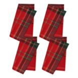St. Nicholas Square® Formal Plaid Napkin 4-pack