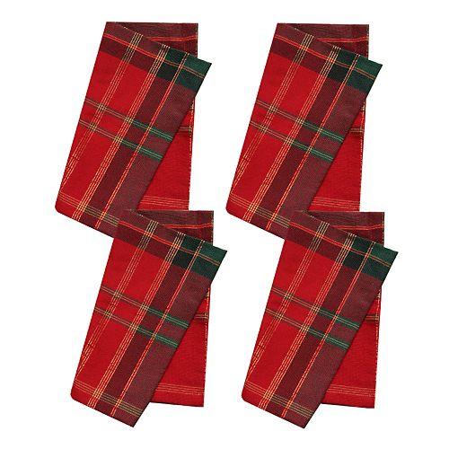 St. Nicholas Square® Formal Plaid Napkin 4-pack