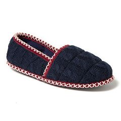 Women's Dearfoams Quilted Cable Knit A-Line Slippers